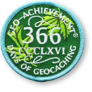 366 Days Of Geocaching Patch